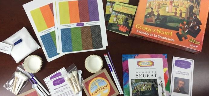 The Art Kit Subscription Box Review & Coupon – August 2015: Georges Seurat & Pointillism