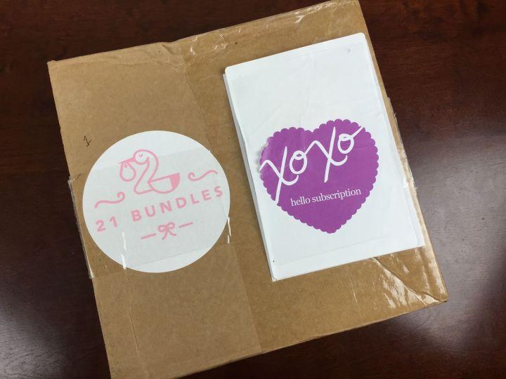 21 bundles 1 month old august 2015 box