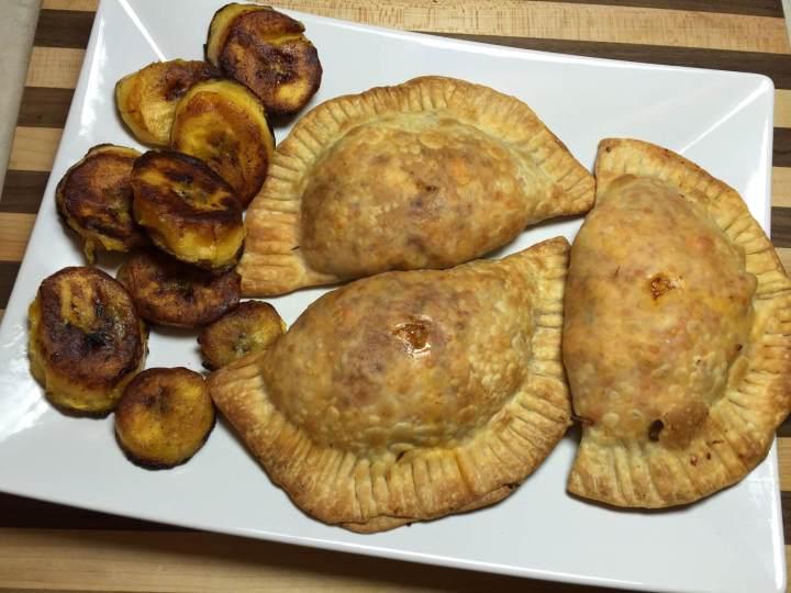 Cuban Chicken Empanadas with Crispy Plantains