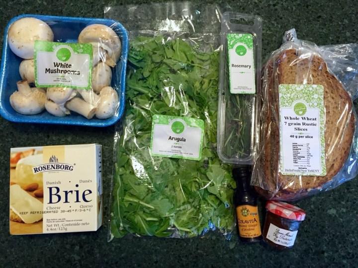 Fig & Brie Grilled Cheese with Crispy Mushroom and Arugula Salad hello fresh