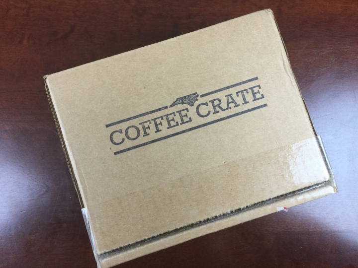coffee crate august 2015 box