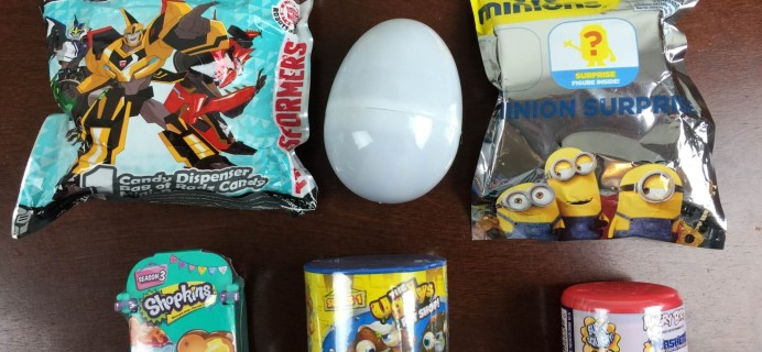 EggDrop Subscription Box Review – Eggs, Blind Bags, and More! September 2015
