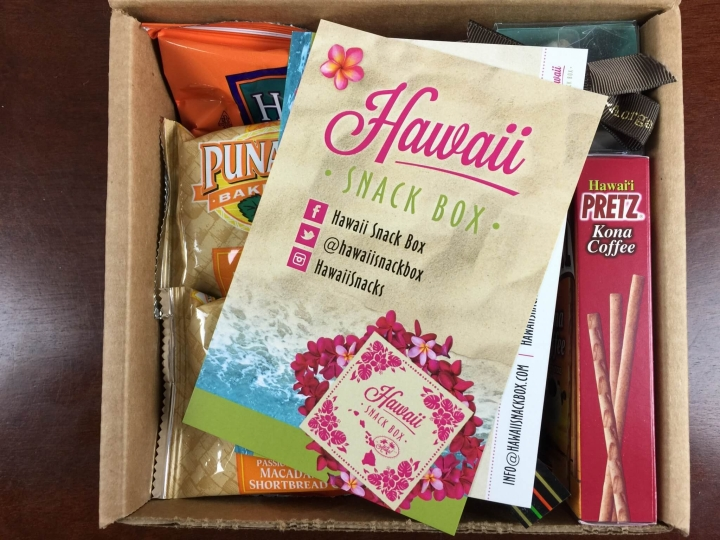 hawaii snack box september 2015 unboxing