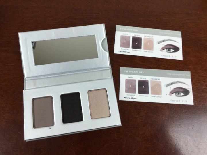 honest beauty bundle Eyeshadow Trio