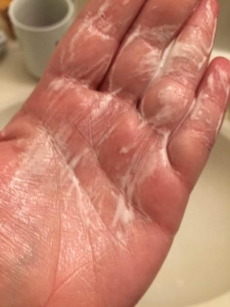 honest beauty free trialRefreshingly Clean Gel Cleanser foamed up