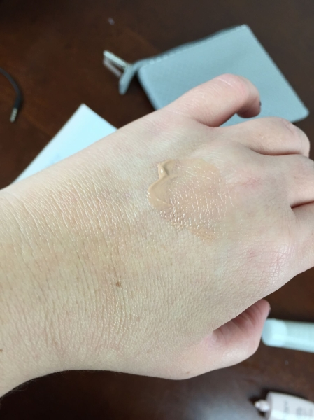 honest beauty free trialnest Beauty Beyond Protected Daily Beauty Fluid Sheer Tint SPF 30 swatch hand