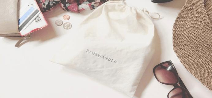 Bag & Wander Full September 2015 Subscription Box Spoilers!