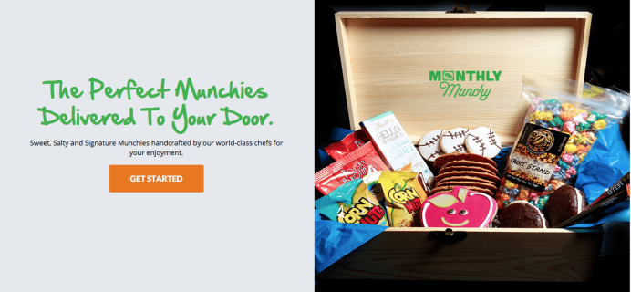 New Monthly Munchy Box + Half Off Box Offer