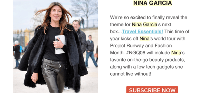 Nina Garcia Quarterly Box #NGQ06 Spoiler + Shipping Update!