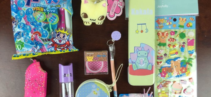 Kawaii Box August 2015 Subscription Box Review + Japan Candy Box Giveaway!