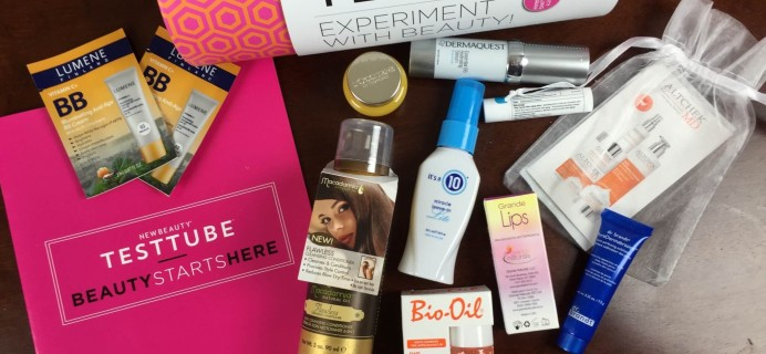 New Beauty Test Tube September 2015 Subscription Box Review + Coupon + Giveaway