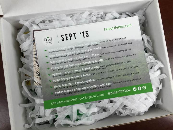 paleo life box september 2015 unboxing