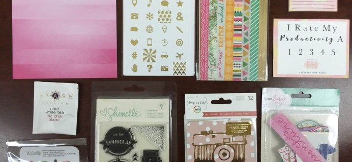The Planner Addict Box September 2015 Subscription Box Review
