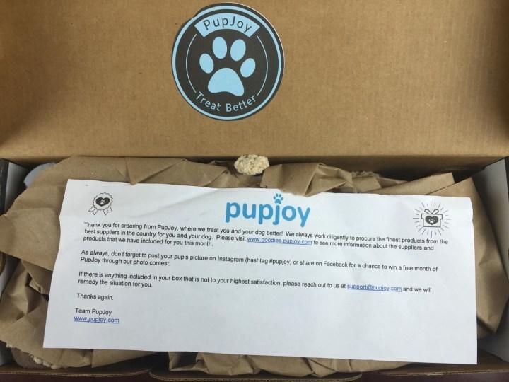 pupjoy august 2015 unboxing