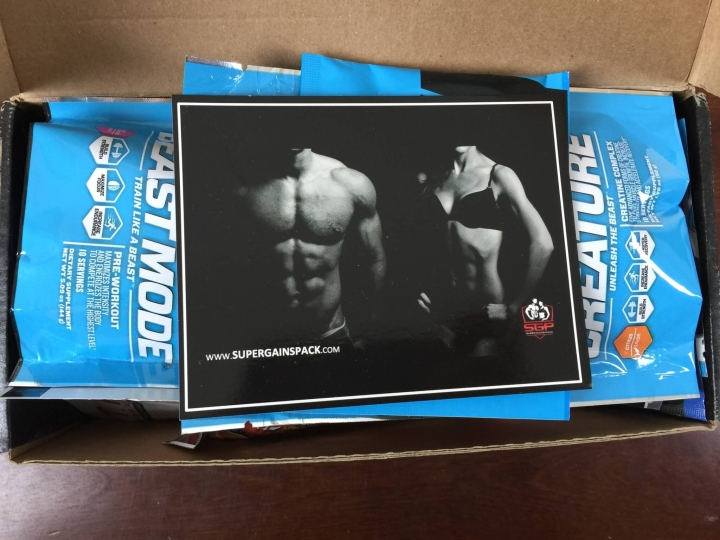super gains pack august 2015 unboxing 1