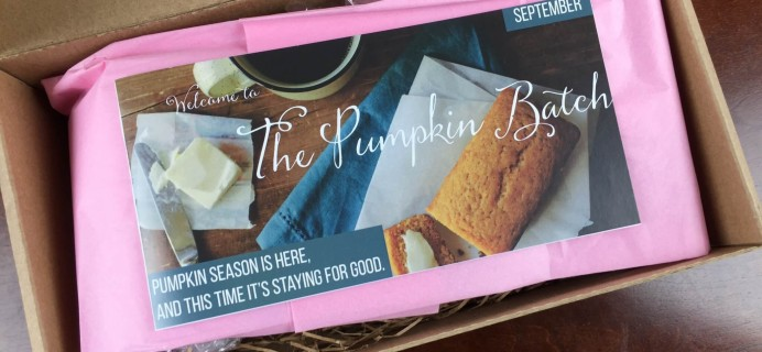 The Pumpkin Batch September 2015 Subscription Box Review