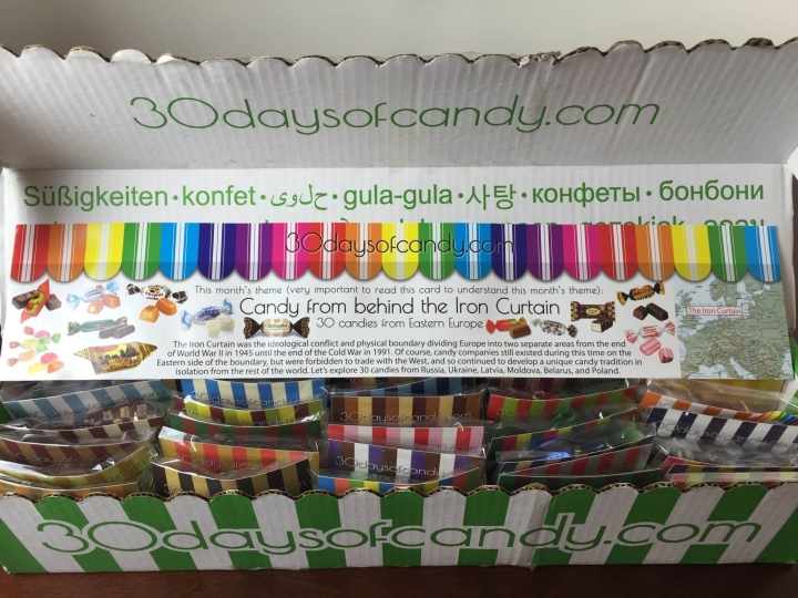 30 days of candy iron curtain box unboxing