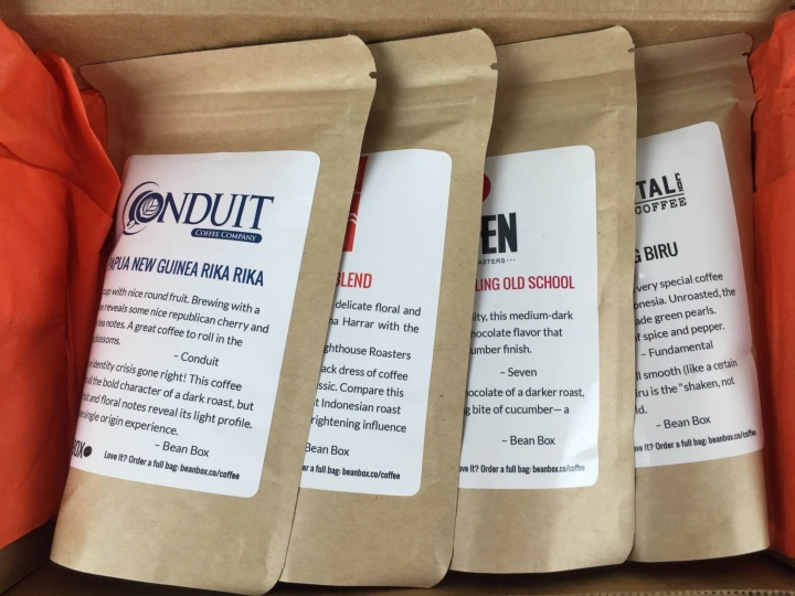 bean box seattle coffee sampler indonesia review