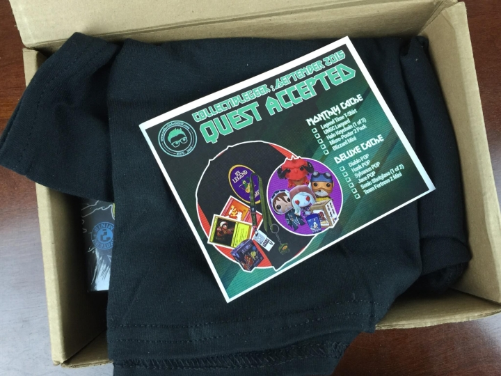 collectible geek september 2015 unboxing