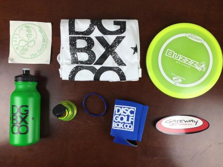 disc golf box september 2015 review