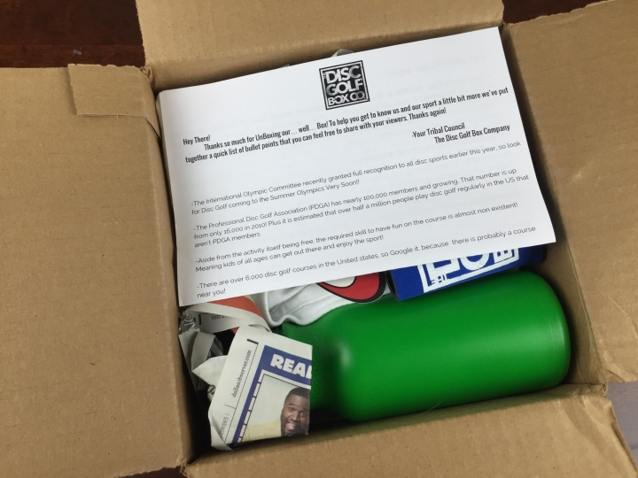 disc golf box september 2015 unboxing
