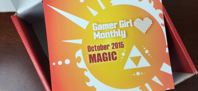 Gamer Girl Monthly October 2015 Subscription Box Review + November Theme Spoiler!