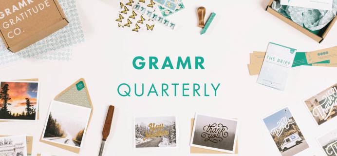 New Gramr Gratitude Co Subscription Box + $15 Coupon Code!