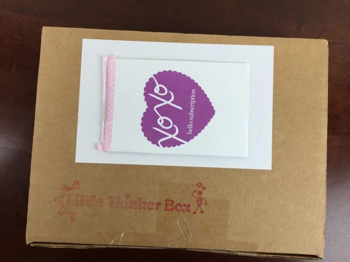 little thinker box september 2015 box