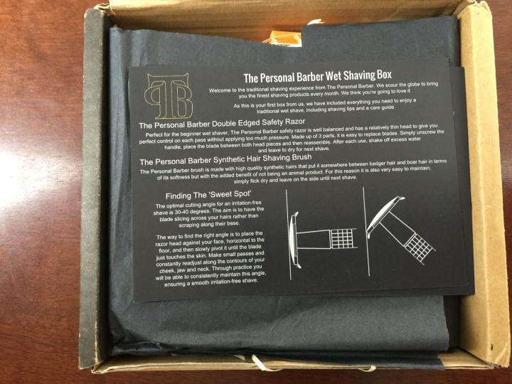 personal barber welcome box unboxing