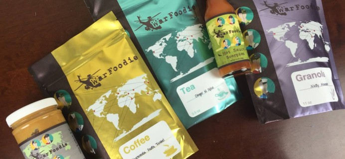 War Foodie Subscription Box Review + Coupons  – November 2015