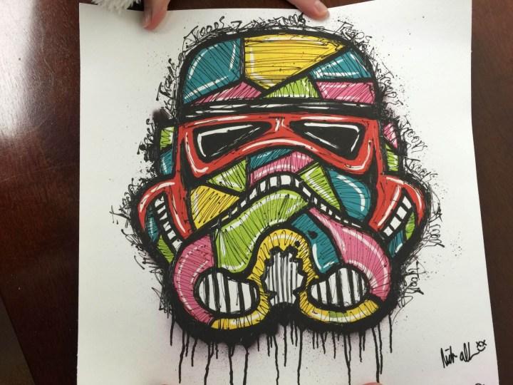 Artbotic November 2015 nick allen stormtrooper print
