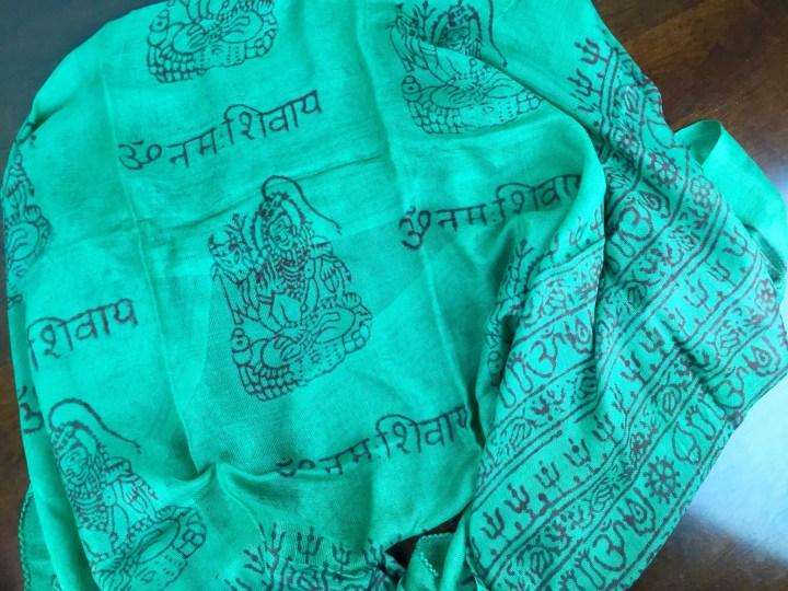 Ashi Box November 2015 green scarf