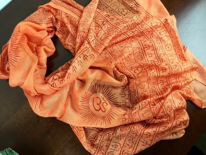 Ashi Box November 2015 orange scarf