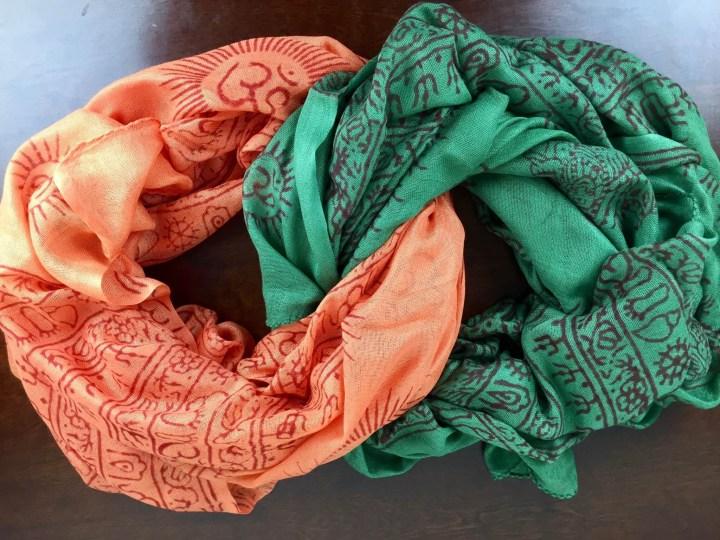 Ashi Box November 2015 scarves entertwined