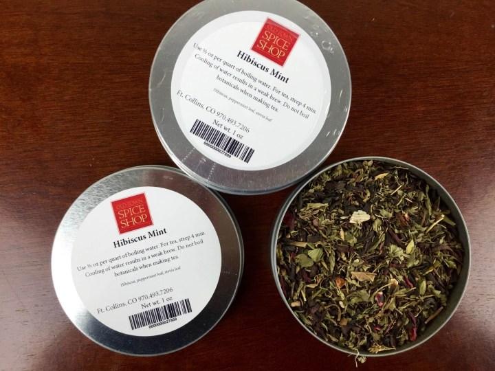 Ashi Box November 2015 tea