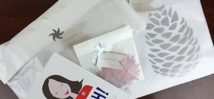 Prodigieuses French Designer Subscription Box Review – November 2015