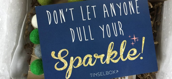 Tinselbox December 2015 Subscription Box Review & 50% Off Coupon!