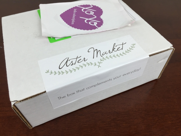 aster market november 2015 box