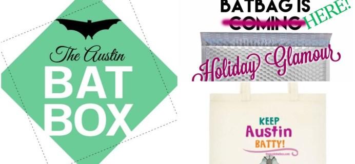 Austin BatBox December 2015 Spoilers + Black Friday Sales + Limited Edition BatBag!