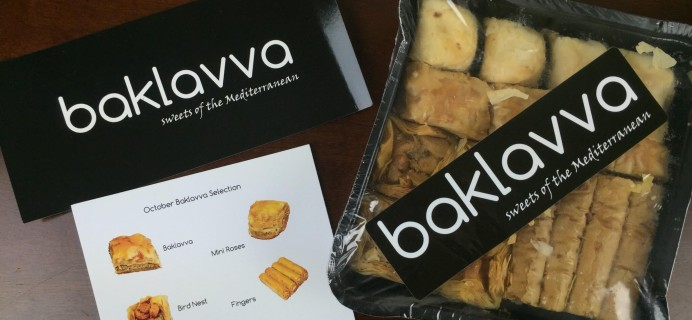 Baklavva Subscription Box Review & Coupon – October 2015