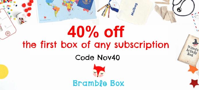 Bramble Box 40% Off Cyber Monday Coupon Code!