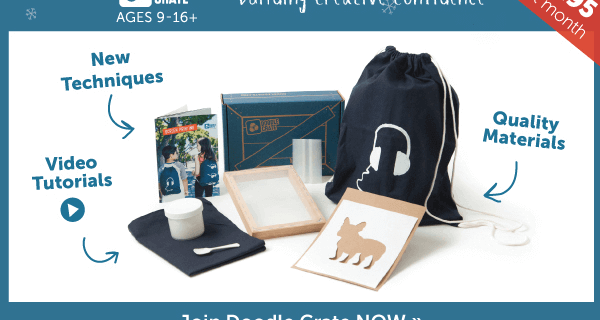 Doodle Crate Cyber Monday Sale – Free Box + 50% Off Shop Deals!