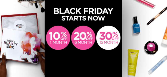 Essence Beauty Box Black Friday Deal! 30% Off Annual Subscriptions!