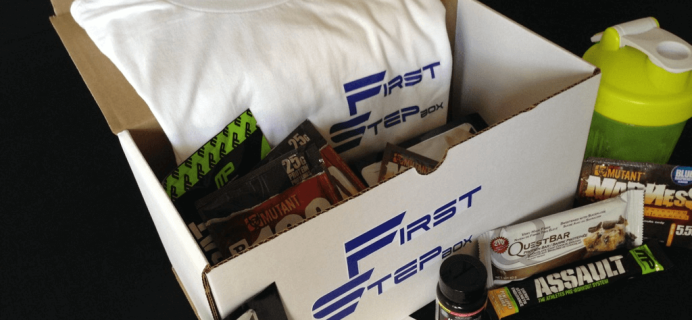 First Step Box Fitness & Nutrition Subscription Box Cyber Monday Deal: 40% Off First Box!