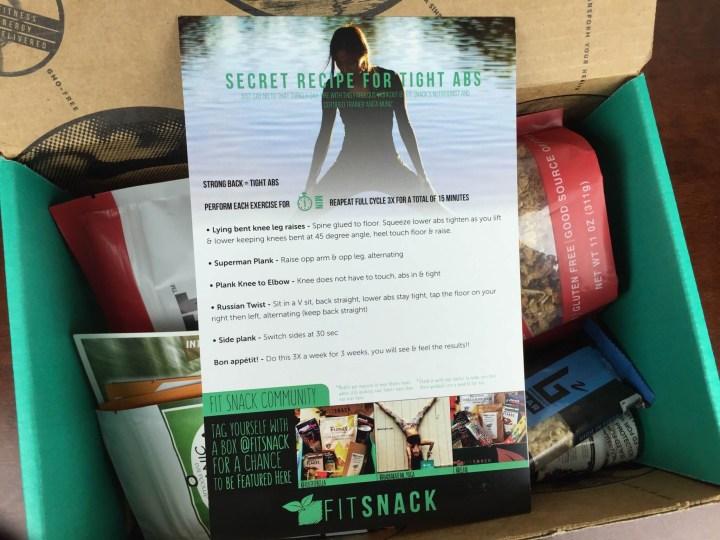 fit snack november 2015 unboxing