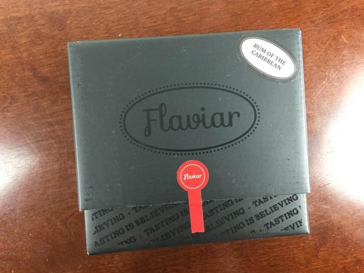 flaviar october 2015 unboxing