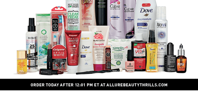 Winter 2015 Allure Beauty Thrills Reminder – On Sale at Noon