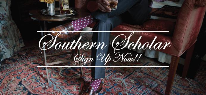 Southern Scholar Mens' Dress Socks Subscription Box 50% Off Black Friday Deal!