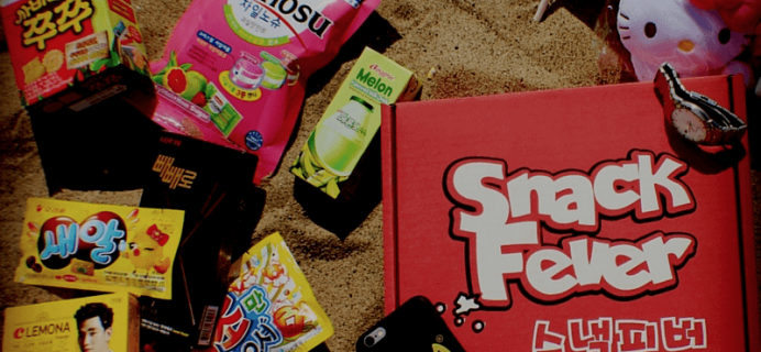 SnackFever Korean Snack Box Cyber Monday Deal! 75% Off First Month on 3+ Month Subscriptions!