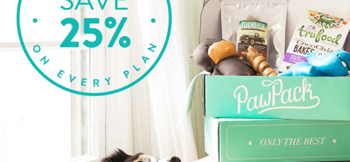PawPack Black Friday Subscription Box Deal – 25% Off Every Plan!